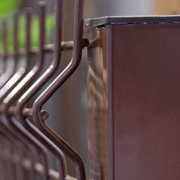 Еврозабор железный коричневый с полимерным покрытием
