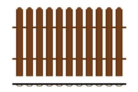 Забор из одностороннего евроштакетника металлический забор