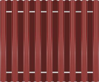 Забор из евроштакетника металл в шахмотном порядке забор