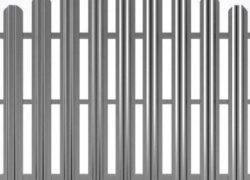 Забор из оцинкованного евроштакетника металлический забор