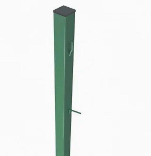 Столбик для сетки рабицы оцинкованный