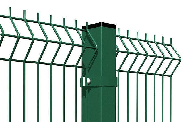 Забор из евроограждения с полимерным покрытием, забор из метталических прутьев