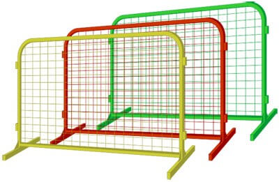 Переносное ограждение временный забор сетка