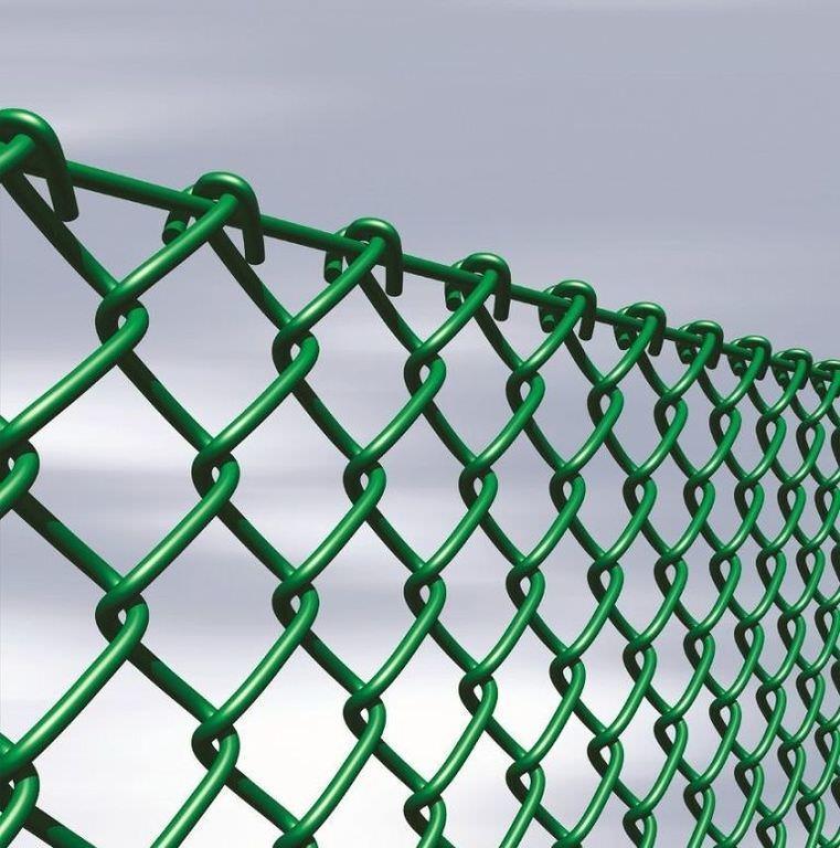 Забор из сетки рабица с полимерным покрытием