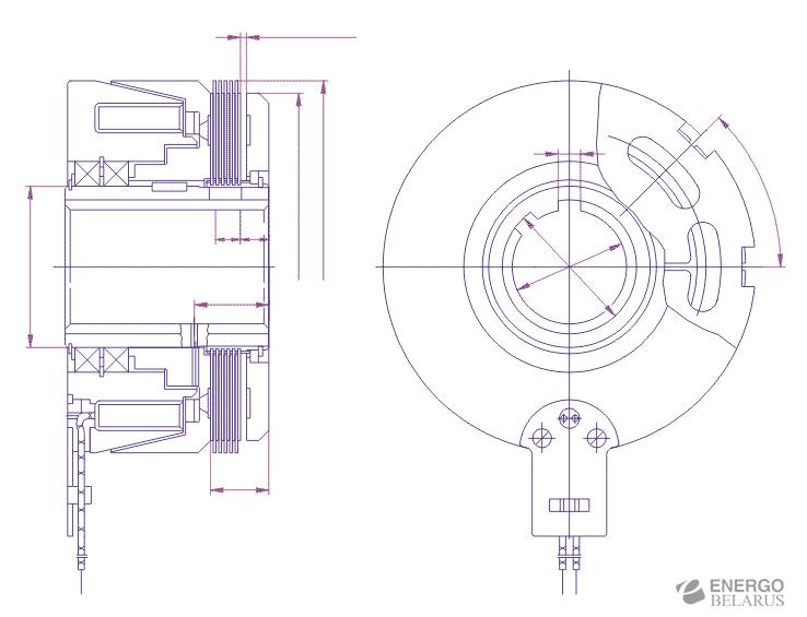 Муфта бесконтактного исполнения Э1ТМ 4П с катушкодержателем на подшипниках Муфта бесконтактного исполнения Э1ТМ 4П с катушкодержателем на подшипниках